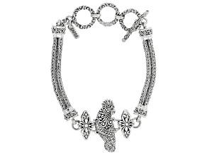 Sterling Silver Carved Parrot Bracelet