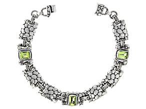 Green Peridot Silver Bracelet 0.86ctw