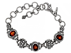 Madeira Citrine Sterling Silver Bracelet 3.84ctw