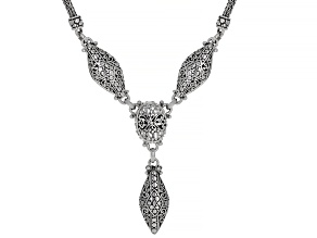 """Sterling Silver """"Attitude And Action"""" Necklace"""