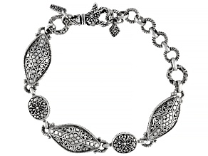 """Sterling Silver """"Attitude And Actions"""" Bracelet"""