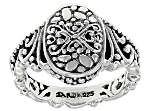 "Sterling Silver ""Attitude And Actions"" Ring"