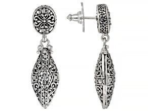 "Sterling Silver ""Attitude And Actions"" Dangle Earrings"