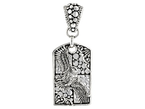 "Sterling Silver ""On Eagles Wings"" Dog Tag Pendant"