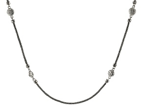 "Sterling Silver ""Promises"" Station Necklace"