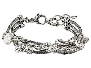 "Sterling Silver ""Promises"" Multi-Row Bracelet"