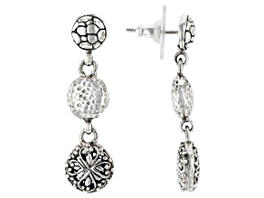 "Sterling Silver ""Promises"" Dangle Earrings"
