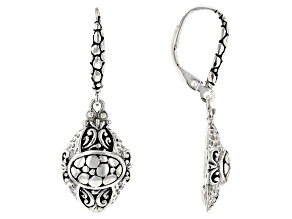 "Sterling Silver ""Opened Eyes"" Dangle Earrings"