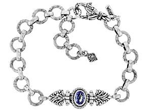 Tanzanite Silver Bracelet 0.62ctw