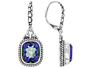 Azotic Blue™ Quartz Silver Earrings 6.64ctw