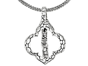 "Sterling Silver ""Attitude Of Gratitude"" Badge Holder With 30"" Chain"