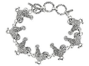 Sterling Silver Rooster Bracelet