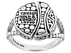 "Sterling Silver ""Chosen, Holy, And Dearly Loved"" Ring"