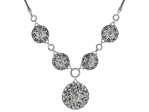 "Sterling Silver ""True Spiritual"" Floral Medallion Necklace"