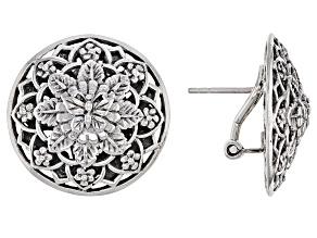 "Sterling Silver ""True Spiritual"" Stud Earrings"