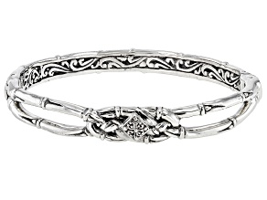 "Sterling Silver ""Like Minded Unity"" Bangle Bracelet"