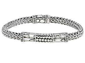 "Sterling Silver ""Happy Forever"" Bangle Bracelet"