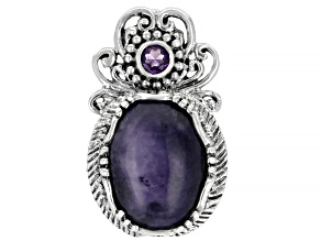 Tiffany Stone And Amethyst Silver Pin/Pendant 0.22ctw