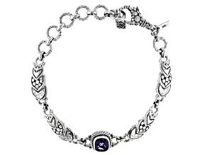 Blueberry Quartz Silver Bracelet 1.08ctw