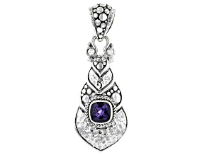 Blueberry Quartz Silver Pendant 1.08ctw