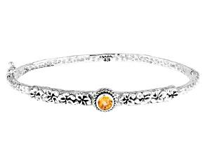 Spessartine Garnet Silver Bangle Bracelet 0.53ct