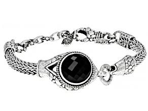 Black Spinel Sterling Silver Bracelet 8.08ctw
