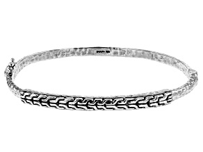 Sterling Silver Chain Link Bangle Bracelet