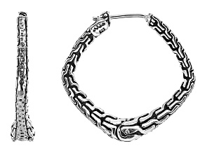 Sterling Silver Chain Link Hoop Earrings