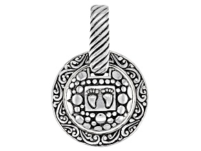 "Sterling Silver ""Footprints In The Sand"" Pendant"