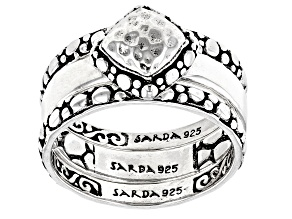"""Sterling Silver """"Purpose And Intent"""" Ring Set Of Three"""