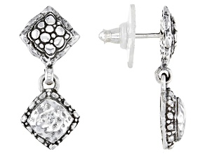 """Sterling Silver """"Purpose And Intent"""" Dangle Earrings"""