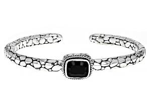 Black Spinel Sterling Silver Bracelet 3.43ct