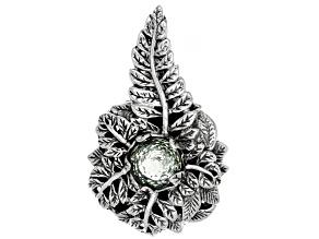 Green Prasiolite Sterling Silver Pendant 3.19ct