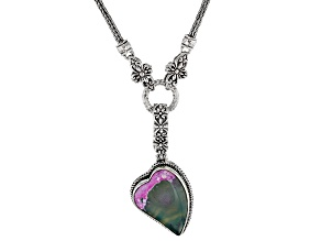 Multi-Color Agate Sterling Silver Necklace