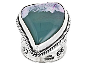 Multi-Color Agate Sterling Silver Ring