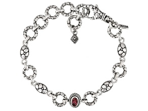 Pink Tourmaline Sterling Silver Bracelet .37ct