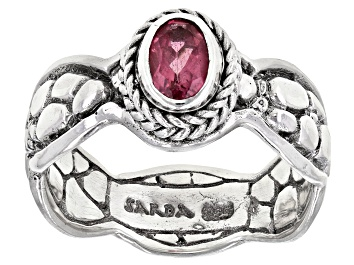Picture of Pink Tourmaline Sterling Silver Solitaire Ring  .37ct