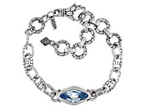 Sky Blue Topaz Sterling Silver Bracelet 3.87ct