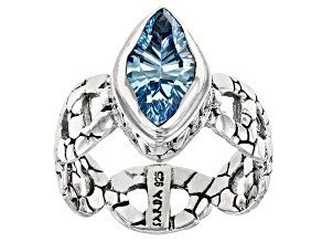 Sky Blue Topaz Sterling Silver Solitaire Ring 2.71ct