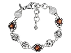 Orange Madeira Citrine Sterling Silver Bracelet 4.68ctw