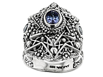 Picture of Tanzanite Silver Ring 0.72ctw