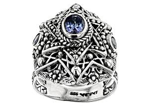 Tanzanite Silver Ring 0.72ctw
