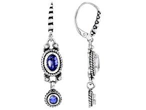 Tanzanite Sterling Silver Dangle Earrings 1.32ctw