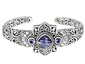 Tanzanite Sterling Silver Cuff Bracelet 0.58ctw