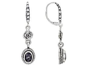 Berry Spinel Sterling Silver Dangle Earrings