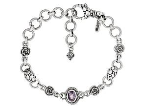 Berry Spinel Sterling Silver Bracelet 0.77ctw