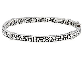 Sterling Silver Watermark Design Bangle Bracelet