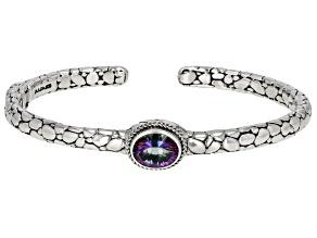 Odyssey Green™ Topaz Silver Cuff Bracelet 2.01ct