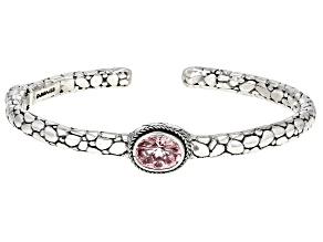 Mountain Wizard™ Quartz Silver Cuff Bracelet 2.45ctw