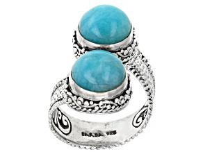 Amazonite Cabochon Silver Solitaire Ring